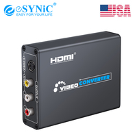 HDMI To Composite RCA AV S Video R/L Audio Vdieo Converter Support 720P/1080P For PS3 Xbox HDTV DVD TV STB Blue Ray PC Laptop