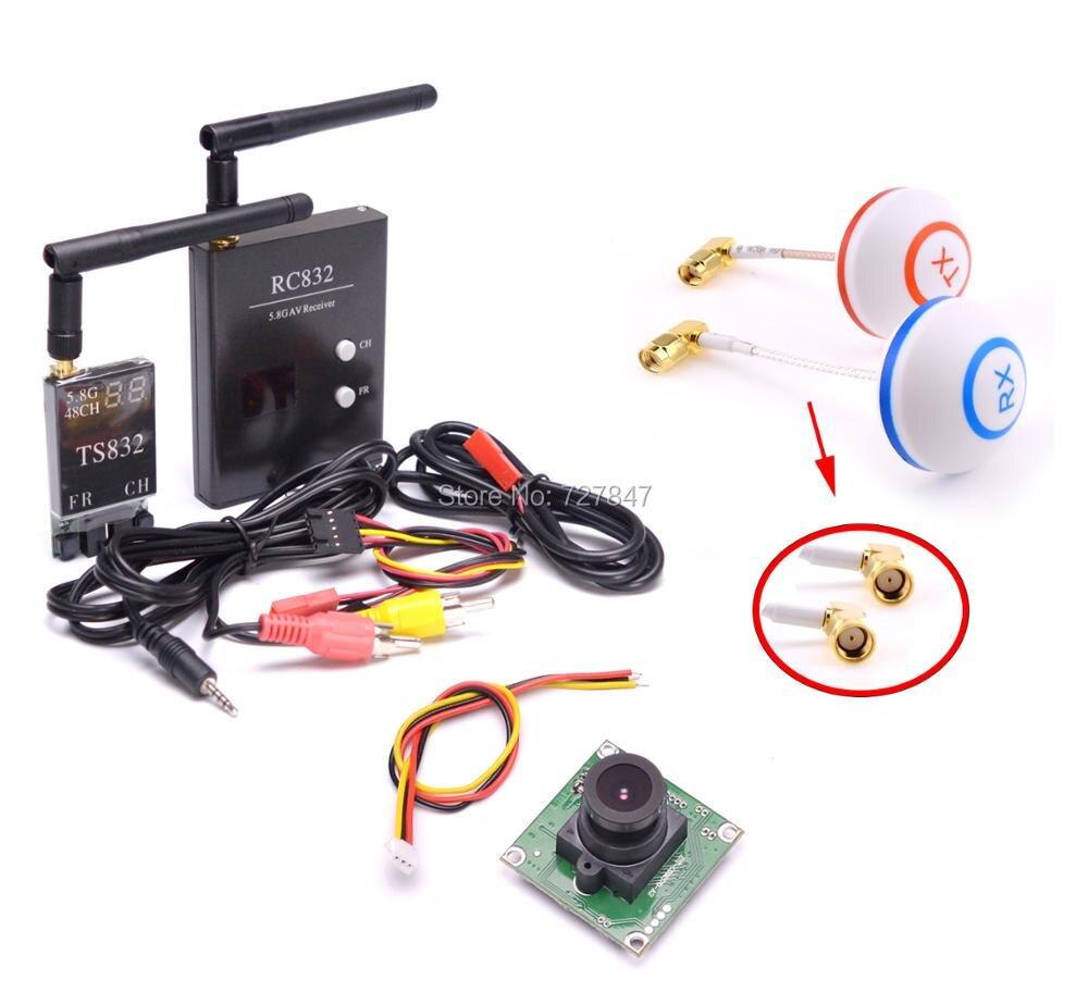 FPV-системы 5.8 Г 5.8 ГГц 48ch RC передатчика TX ts832 и приемник RX rc832 плюс грибы Телевизионные антенны 700TVL Камера для гонки Drone F450 s500