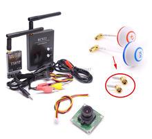 FPV 5.8G 5.8GHz 48CH RC Transmitter TX TS832 & Receiver RX RC832 Plus Mushrooms Antenna 700TVL Camera For Racing drone F450 S500