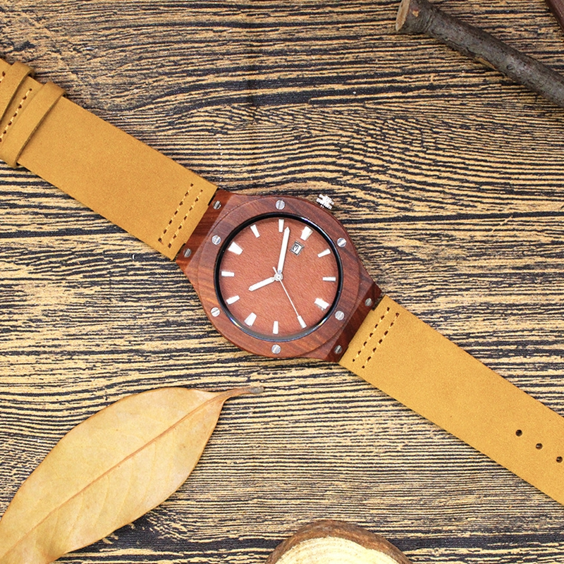Quartz Wrist Watch  Relogio Feminino  Wooden Watch  Quartz Watches  TJW    Bamboo Wooden Watch  Top Brand Luxury  Date Display  Zebra Wood8