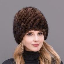 Vendita calda di Stile Reale Naturale Visone Cappello di Pelliccia Per  Gruppo di Mezza Età Nobili delle Donne di Inverno Lavorat. e80d1a6735b3
