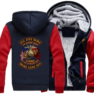 Image 3 - Personality United States Marine Corps Coat Casual Fashion Hooded Zipper Hoodies Autumn Winter Mens Jackets
