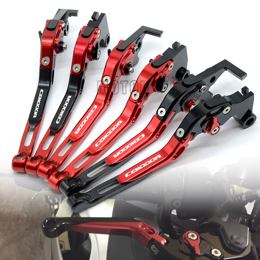 Motorcycle CNC Aluminum Foldable Brake Clutch Levers For Honda CB1000R 2008-2016 Extendable Adjustable Folding CB 1000R 1000 R for honda cbr1000rr 2004 2007 cb1000r 2008 2014 motorcycle adjustable folding extendable brake clutch levers logo repsol