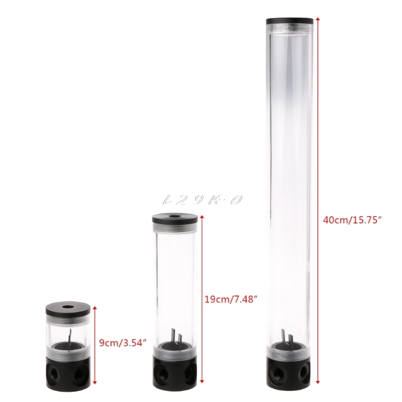 Набор для водяного охлаждения ПК, цилиндрический резервуар 50 мм, диаметр G1/4 дюйма, 9/19/40 см, для водяного охлаждения компьютера