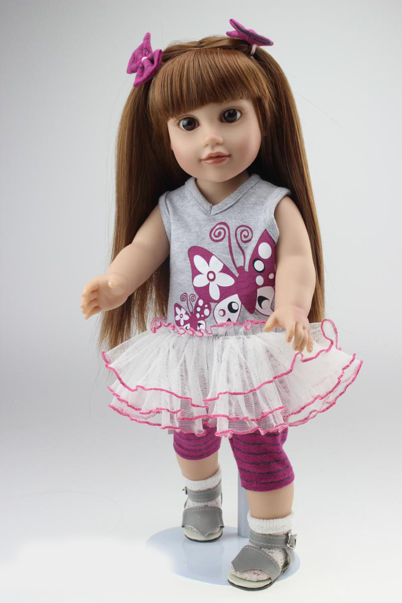 European style Vinyl lifelike 18 inch american girl doll kids birthday christmas gifts baby doll toys play house girl brinquedos lifelike american 18 inches girl doll prices toy for children vinyl princess doll toys girl newest design