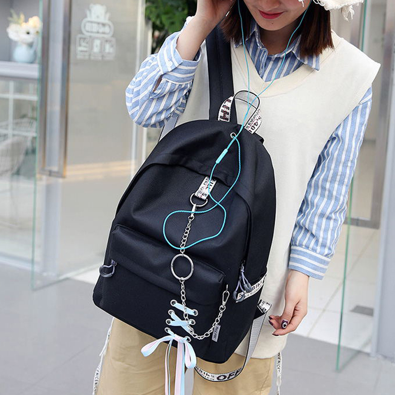 Fashion Big Capacity Shopping Bag Laptop Backpack Rucksack Canvas Bags Student Mochila Womens School Bags #3