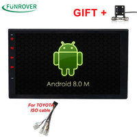 2017 New Funrover Android 8.0 Quadcore 2g Ram 32g Rom Car Dvd Player For Toyota Hilux Vios Old Camry Prado Rav4 2003 2008 Rds