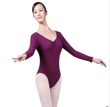New Women Gymnastics Leotard 6 Colors Adult Ballet Leotard For Practice Lady Ballet Clothing spandex Material dance wear dress