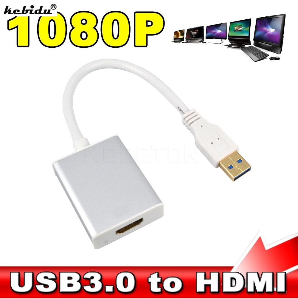 kebidu 10pcs 5Gbps USB 3 0 to HDMI Adapter for HDTV PC Laptop Notebook Full HD