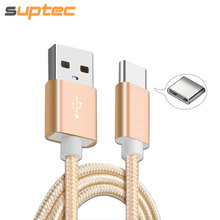 Suptec USB Type C Cable for Samsung Gaxaly S9 S8 Plus Fast Charging Data Sync USB Type-C Charger Cable for Huawei Xiaomi Oneplus