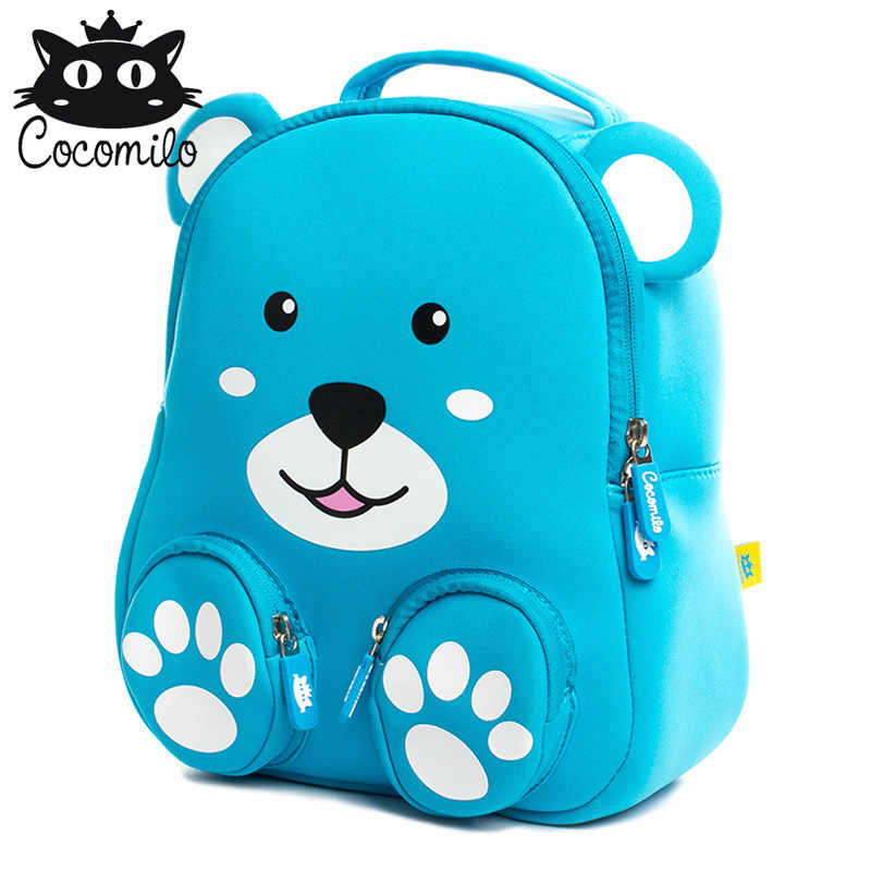 9fde8fec8d Cocomilo 3D Cartoon Bear School Bags For Boys Girls Backpack Kids Small Bag  Kindergarten Backpacks Anti