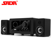 SADA SL 8026 Multimedia Computer Speaker Active 2.1 3 Channel Wooden Body 6.5 High Power Speaker Supper Bass Subwoofer