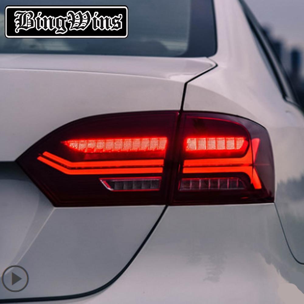 Feu arrière de style de voiture pour Volkswagen VW Jetta MK6 feu arrière 2012-2014 LED DRL clignotant jaune mobile feu arrière