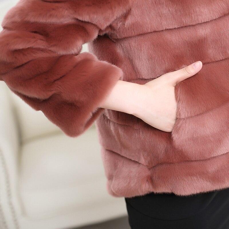 Nerazzurri Faux Pelzmantel Frauen plus Größe pelzigen Nerz Pelz Top - Damenbekleidung - Foto 5