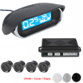 Car LED Display 4 x Sensors Waterproof Kit Reversing Parking Radar Buzzer System with 250cm Detecting Distance With Bi.Bi Alarm