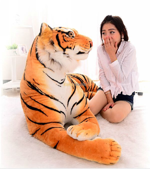 Fancytrader 71'' / 180cm Biggest Plush Stuffed Giant Soft Emulational Tiger Toy, Nice Decoration Toy,Free Shipping FT50171 fancytrader 2015 new 31 80cm giant stuffed plush lavender purple hippo toy nice gift for kids free shipping ft50367