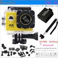 """Esportes Câmera 2.0 """"tela 4K1080P HD wi-fi ação Camera170 graus monopé SJ4000 Esporte câmera do carro DV gravador de bateria extra estilo"""