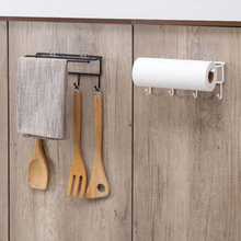 MeyJig Kitchen Tools Organizer Iron Storage Rack Bathroom Towels Hanger Roll Paper Holder Cupboard Hanging Shelf Hooks On Wall