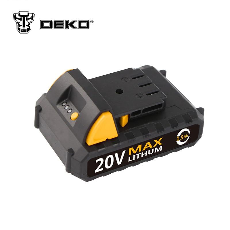 DEKO 20V Lithium 1500mAh Cordless Drill Tool Battery Pack For GCD20DU2