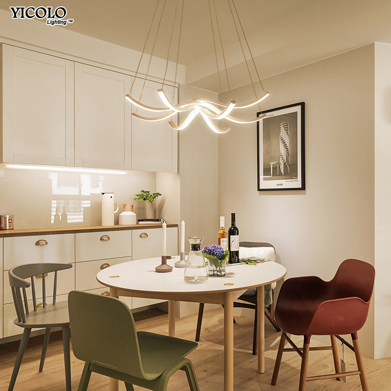 Modern Led Pendant Lamp dining Pendant Lights Luminaire Ring Lustre Lamp Lamparas Restaurant Lighting Home Decor Light Fixtures led crystal pendant lights for dining room kitchen restaurant lighting modern pendant lamp indoor led fixtures luminaire light