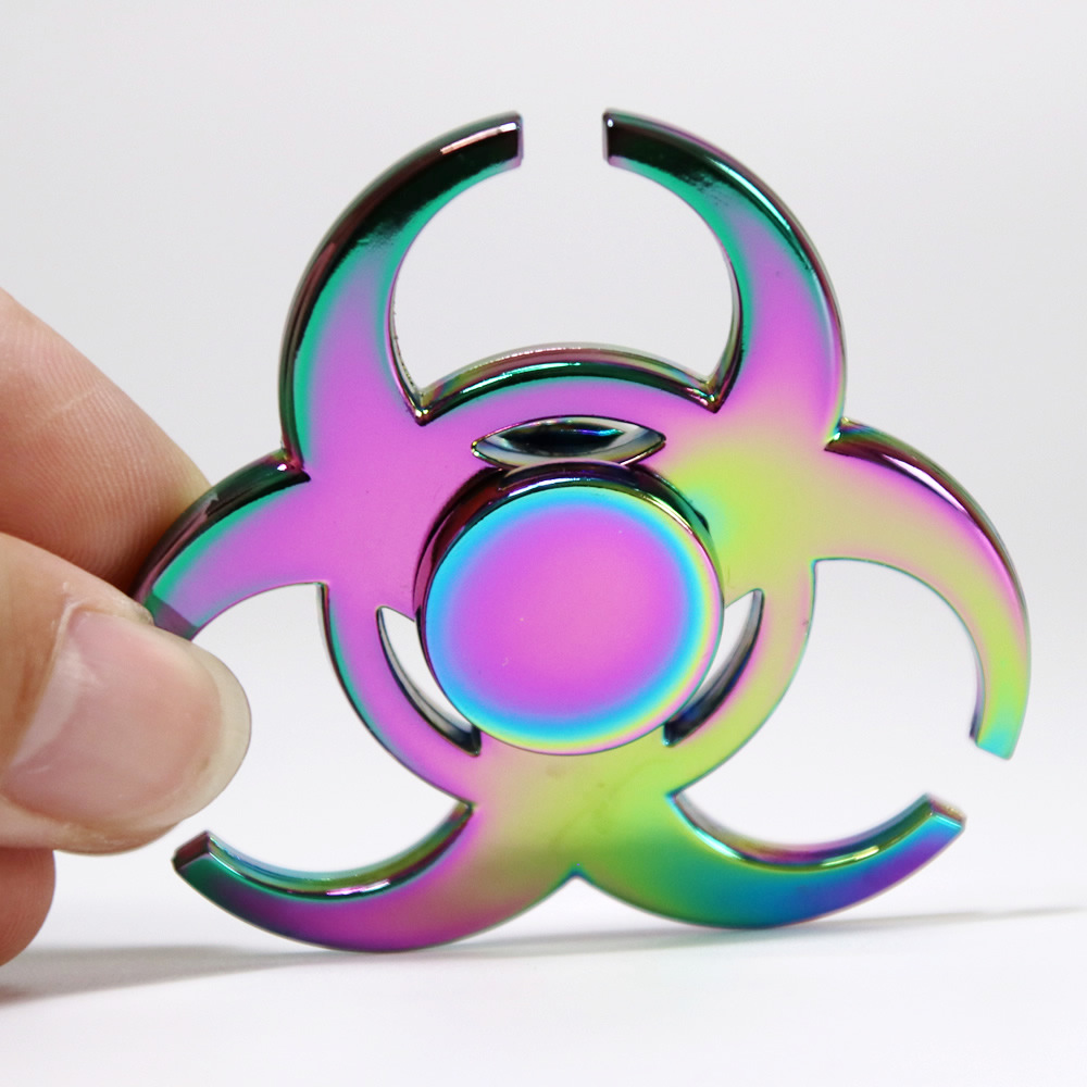20PCS Colorful Rainbow Resident Evil Fidget Spinner Steel Hand Spinner Metal  Educational Toys Spinners Hand Anti Stress Toy game darts legering metalen wapen model draaibaar darts cosplay props voor collectie fidget spinner hand anti stress