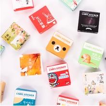 Фотография 1 Pcs /box Mini Cartoon Paper Sticker Decoration Decal Diy Album Scrapbooking Seal Sticker Kawaii Stationery Gift MaterialEscol