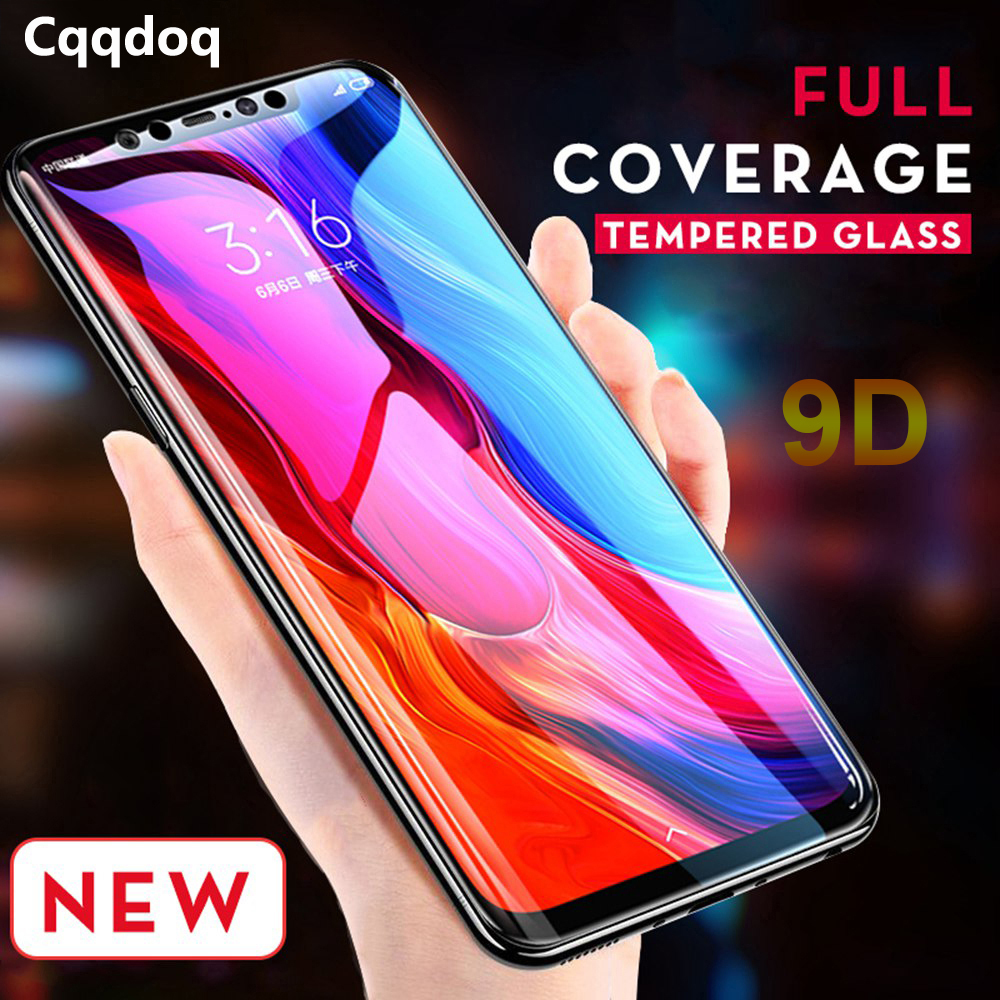 Cqqdoq 9D Full Protection Glass Film For Redmi 6a Note 6 6pro S2 Screen Protector Xiaomi 8 Lite Mimix 3 Play Tempered