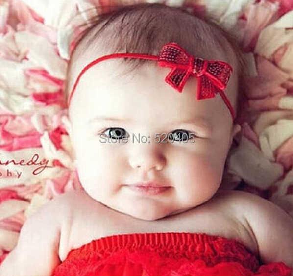 1 pieza hermosa lazo vincha banda para el pelo niños diademas infantiles cabeza Niños Accesorios bebé niña regalo pedido mínimo $3