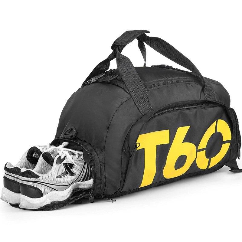 Nova marca Dos Homens Do Esporte Saco de Ginásio Mulheres de Fitness Espaço Separado Para Sapatos À Prova D' Água Ao Ar Livre bolsa mochila Esconder Mochila sac de t60