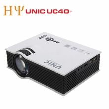 UNIC 800lms UC40 + LED Proyector HD 3D Mini Pico proyector de Cine En Casa proyector multimedia Full HD 1080 P vídeo