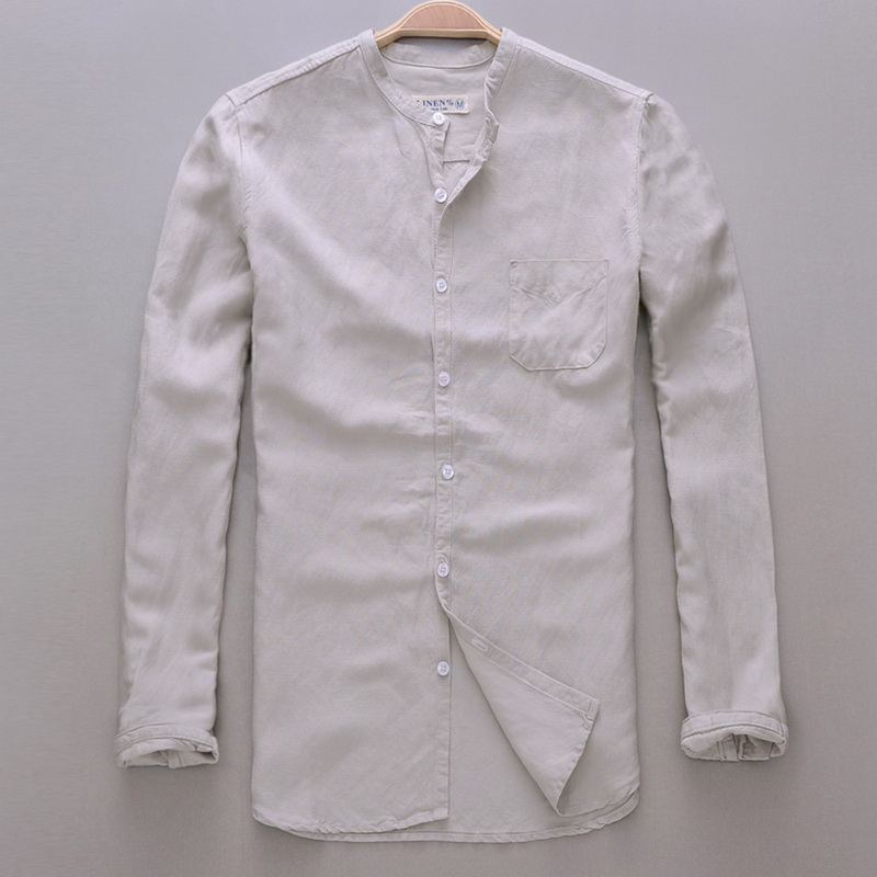 Brand Shirt Men Casual Slim Fit Designer Meeste särk Pikkade - Meeste riided - Foto 1