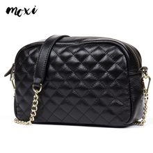 Moxi Crossbody Bag Women Chain Genuine Leather Shoulder Diamond Lattice Small Messenger Ladies Real Daily