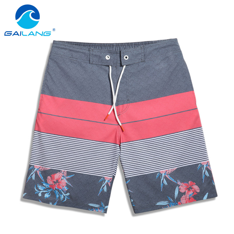 Gailang Marke High Quality Men Mode Design komfortable elastische Taille Strand Shorts Bademode Herren Freizeit Shorts gedruckt