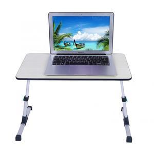 Image 3 - Escritorio ajustable para ordenador portátil para el hogar soporte portátil de pie escritorio portátil mesa de ordenador portátil sofá plegable mesa tipo bandeja para cama