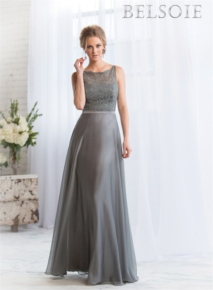 Fast Shipping Silver Grey Bridesmaid Dresses with Lace 2015 High ...