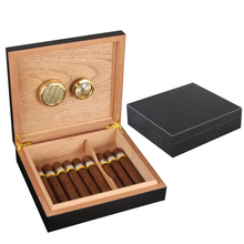 COHIBA Humidor Cigar Case Accessories Cedar Wood Travel Box with Humidifier Hygrometer