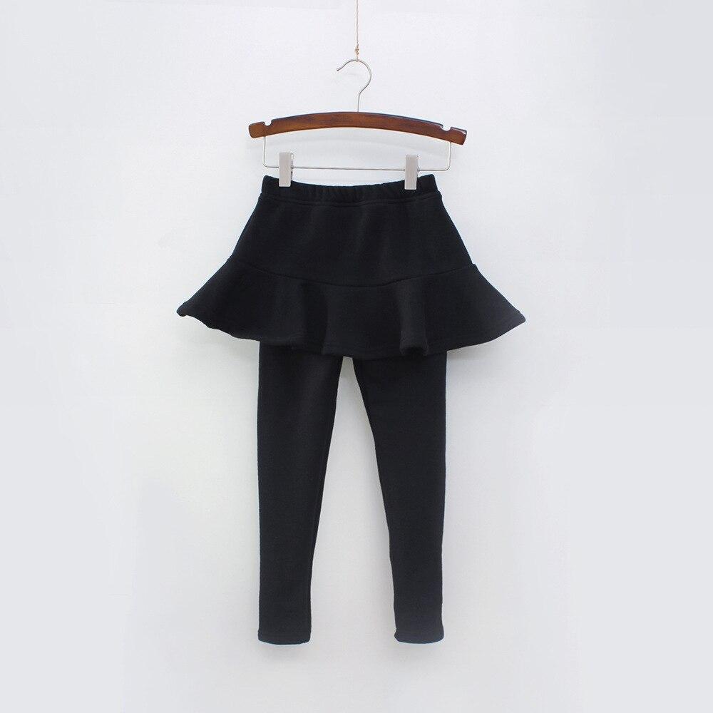 Г. Однотонные штаны для девочек детские леггинсы От 2 до 10 лет одежда для детей осенние хлопковые леггинсы теплая юбка-брюки для маленьких девочек, высокое качество - Цвет: Black