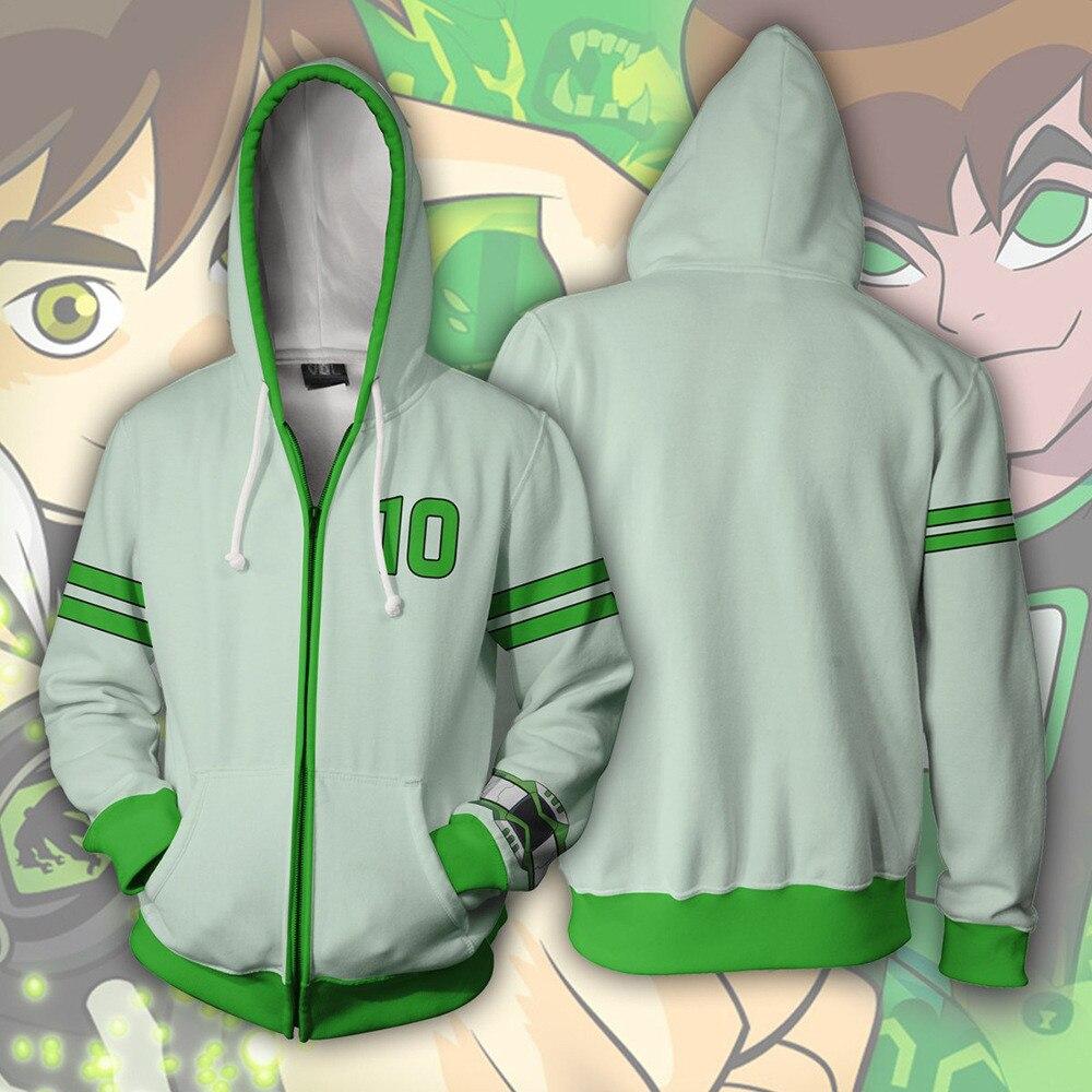 Kid/'s Adult/'s Ben 10 Alien Force Reboot Green T-Shirt Benjamin Cosplay Costume