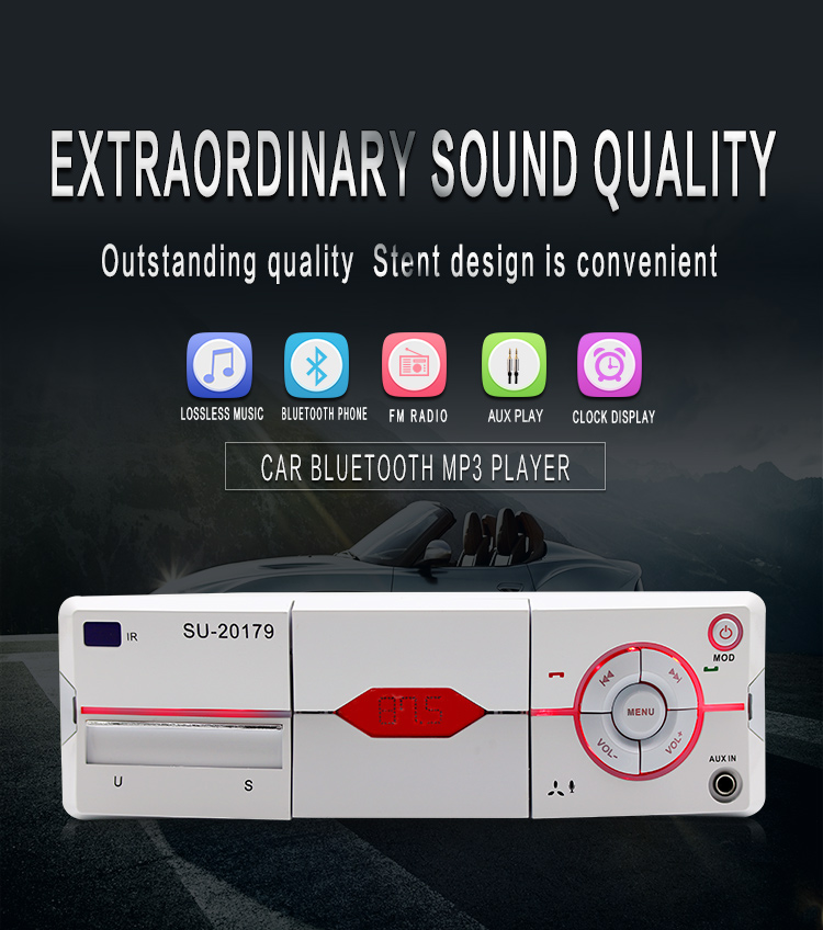 2017 New products Car Radio Auto Audio Stereo Support FM SD MP3 Player AUXIN USB with 12V Remote Control for Vehicle Audio Radio-in Car Radios from Automobiles & Motorcycles    3