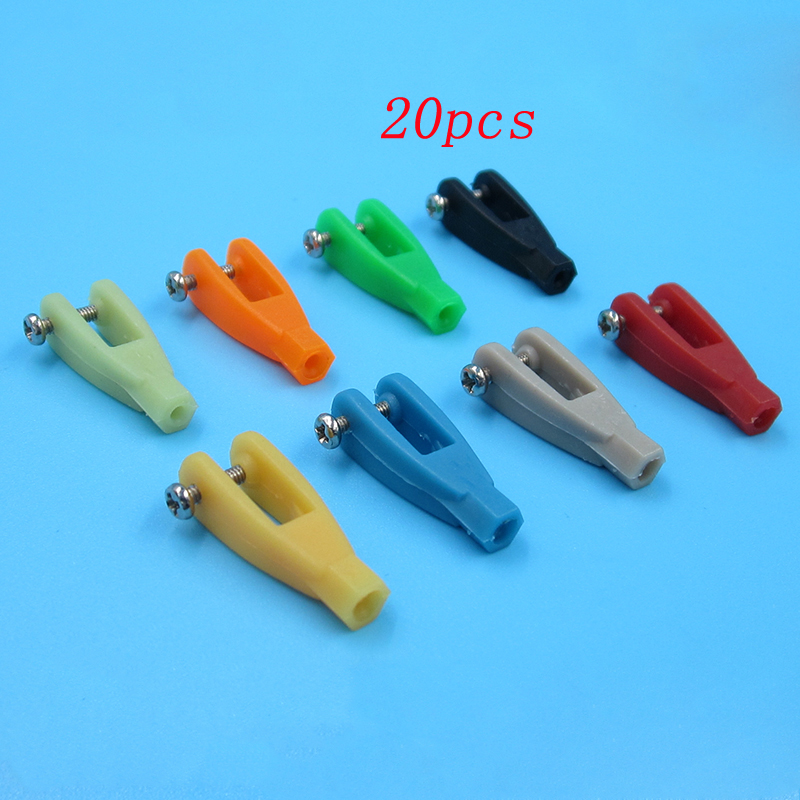 20pcs Servo Linkage Rod Clevis&coupler U-shaped Nylon Clamp 2/2.5/2.8mm Push Rod Connecting Clip L24mm For Rc Aircraft Parts
