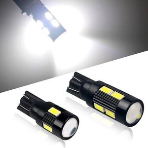 2Pcs Car T10 LED 194 W5W 5630 SMD LED Canbus Light Bulb No Error Light Parking Clearance Side Turn Signal Light White 12V