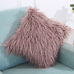 Image 2 - Soft Plush Square Cushion Cover Solid Waist Throw Pillow Cover DIY Car Sofa Home Decorative 45cm*45cm Pillow Cover