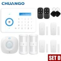 Chuango A11 PSTN Alarm System Android IOS APP Touch keypad Android Smart Home Burglar Alarm System Motion Sensor
