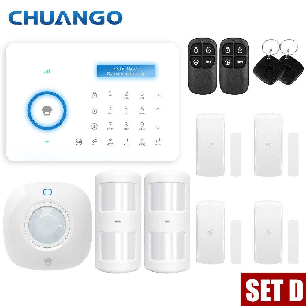Chuango A11 PSTN système d'alarme tactile clavier intelligent maison système d'alarme antivol capteur de mouvement