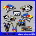 YZ 125 250 02 03 04 05 06 07 08 09 10 11 12 13 14 MOTORCYCLE  3M 666 GRAPHICS BACKGROUND DECALS STICKERS SETS FOR MOTOCROSS