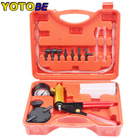 Professional Car Tool Set Brake Bleeder & Vacuum Pump Kit Tester 2 in 1 Auto Hand Held