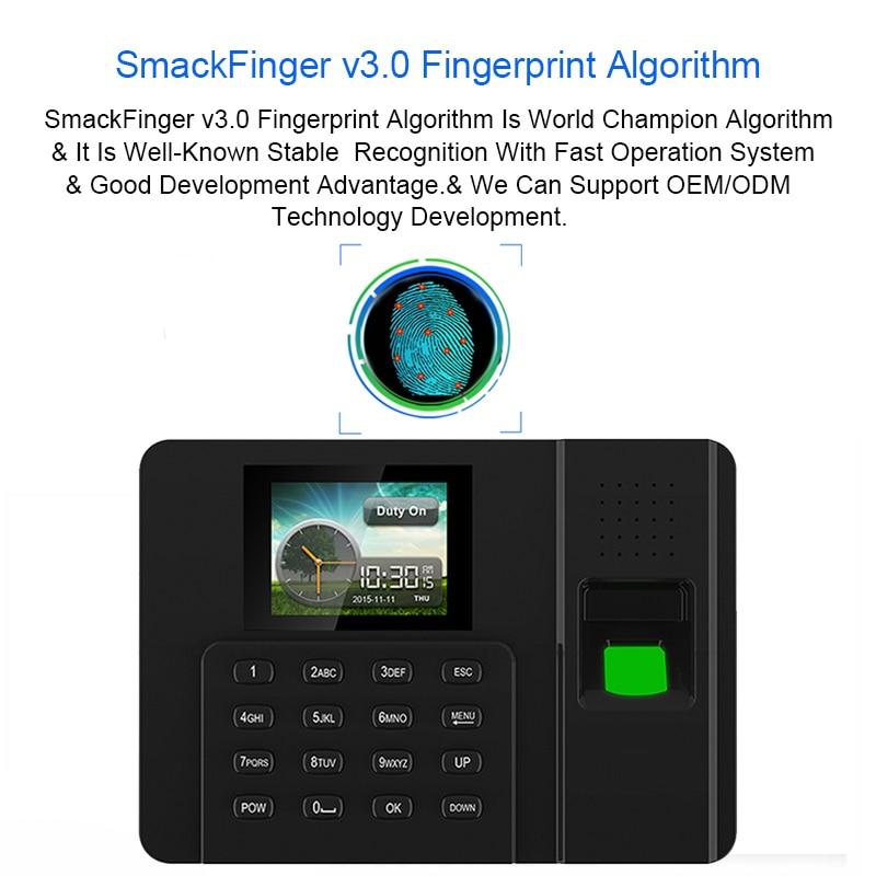 Système biométrique d'assistance d'empreinte digitale d'eseye tcp/ip USB lecteur de présence de temps d'empreinte digitale horloge de bureau dispositif d'employé 1