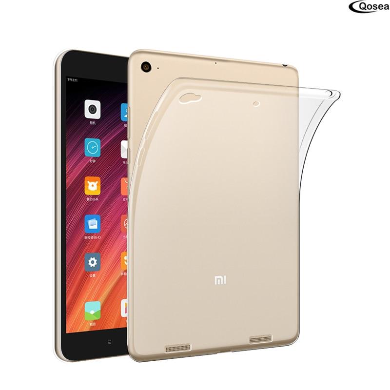Qosea Pour Xiaomi Mi Pad 3 Table Cas Ultra-mince Transparent Tpu Silicone Protecteur Pour Xiaomi Mi Pad3 Housse de protection