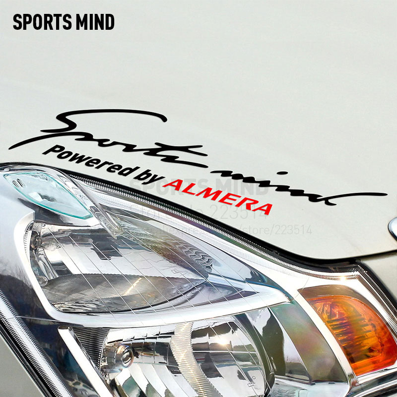 2 Pieces Sports Mind Car Styling On Car Lamp Eyebrow Automobiles Car Sticker For Nissan almera n16r exterior accessories