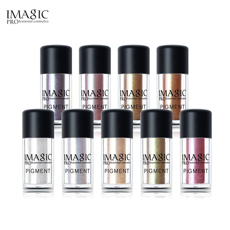 IMAGIC New Eyeshadow Loose Pigment Shadows Eyes Metallic Glitte Powder Metallic Loose Eye Shadow Color Makeup